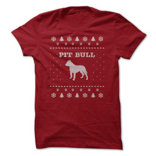 Christmas Pit Bull