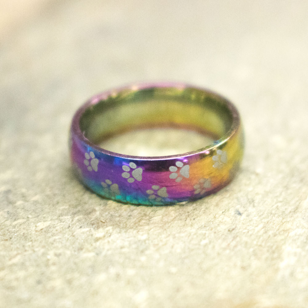 edward ring titanium rings inlay black matching rainbow set mirell