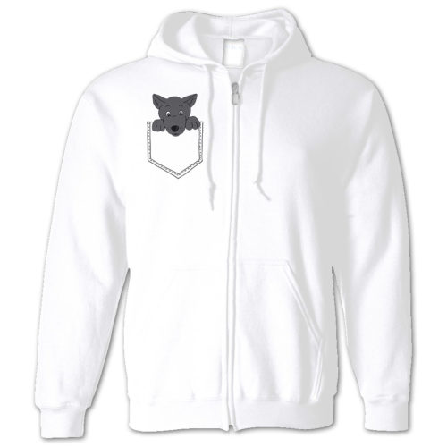 Dog Pocket Zip Hoodie