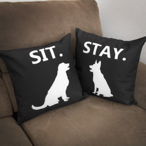 Sit and Stay Dogs Pillowcase Set