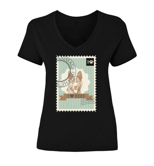 German Shepherd Stamp V-Neck