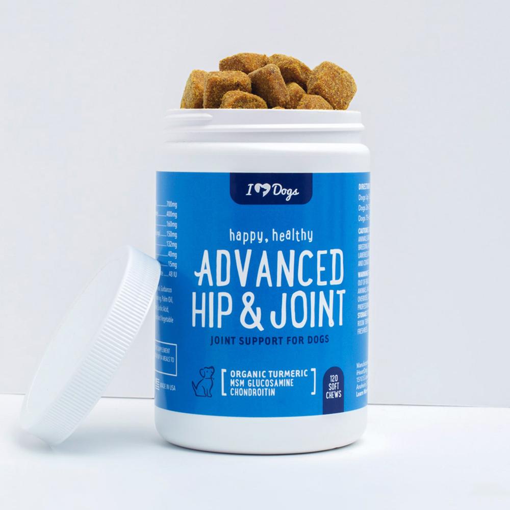Advanced Hip & Joint Chews With Glucosamine, MSM, Chondroitin, Organic Turmeric (120 ct)
