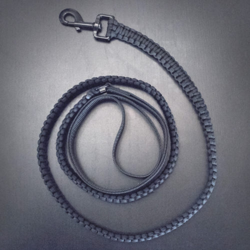 Ultra-Durable Black Paracord Dog Leash: Every Purchase Gives 20 Meals to Shelter Dogs