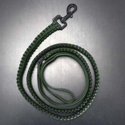 Ultra-Durable Military Green Paracord Leash: Helps Provide Service Dogs for Veterans!