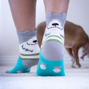 Grey Dog Ears Socks