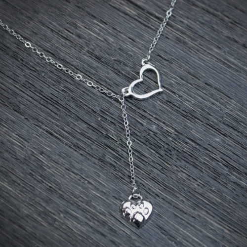 Always Close To My Heart 3D Paw Print Necklace