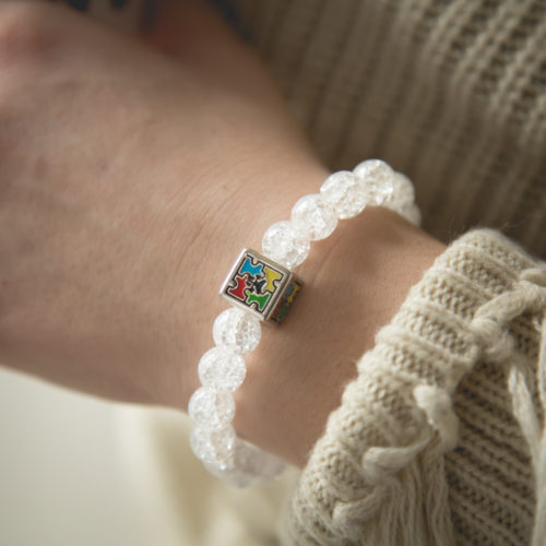 Autism Awareness Crackle Bracelet