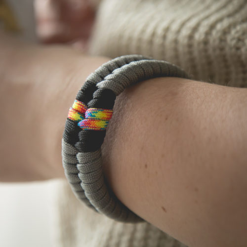 Meet Me On The Rainbow Bridge Paracord Bracelet