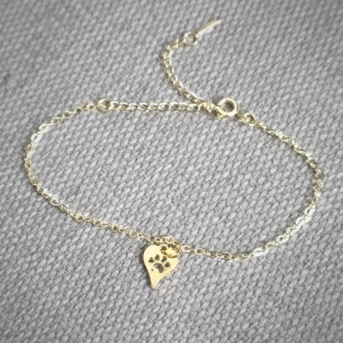 Sweet Lit'l Heart Paw Bracelet