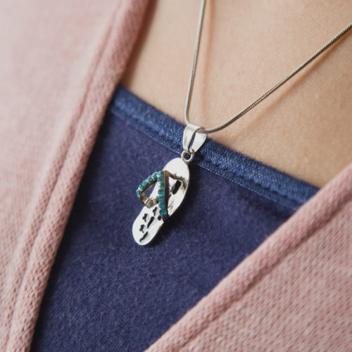 Always At Your Side Sandal Pendant Necklace