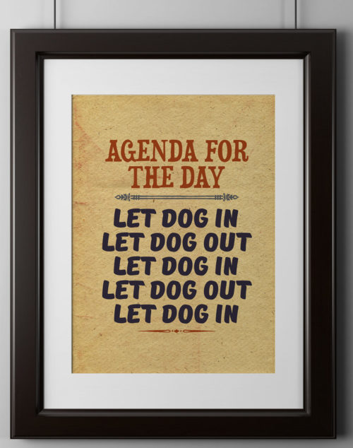 Agenda Of The Day Poster