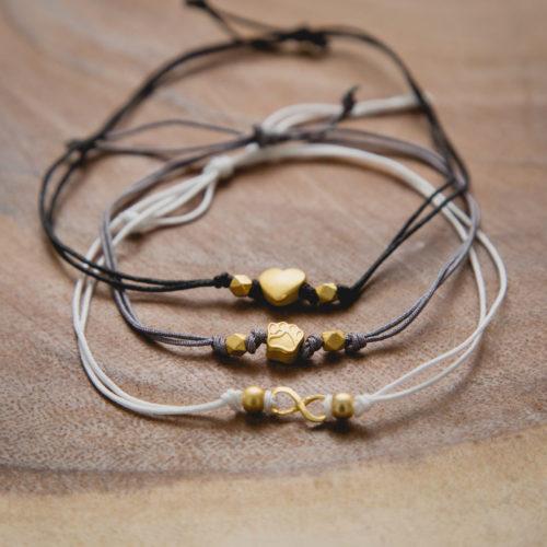 Black Combo Stackable Cord Bracelets