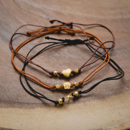 Rescue Rebuild Brown Combo Stackable Cord Bracelets