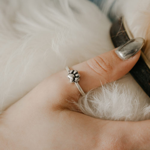 Your Heart Always On My Paw Adjustable Ring