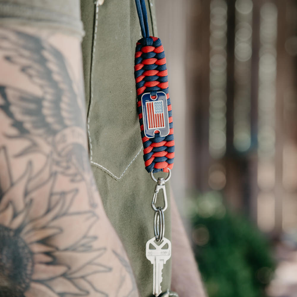 Famous Red White Blue Paracord Lanyard: Helps Pair Veterans with a  IL89