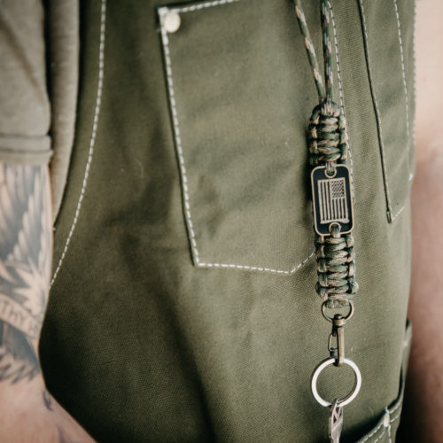 Camo Paracord Lanyard: Helps Pair Veterans with a Service Dog or Shelter Dog