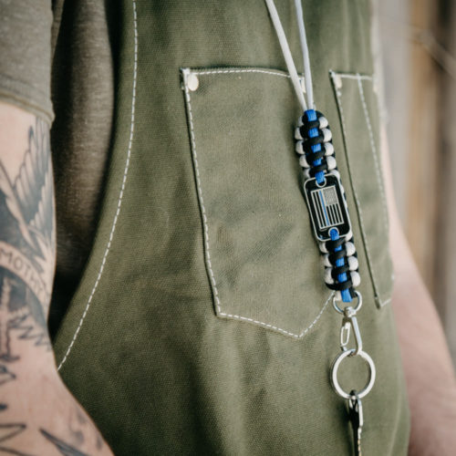Thin Blue Line Paracord Lanyard: Helps Provide Body Armor for K9 Police Dogs