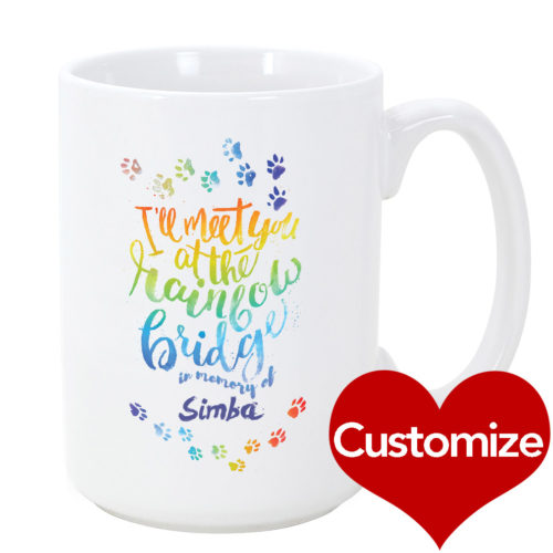 Custom Rainbow Bridge Mug