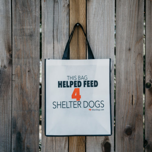Grocery Bag Help Feed 4 Shelter Dogs – Black Trim