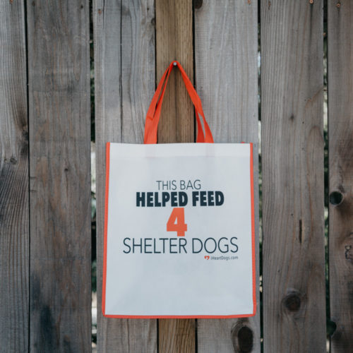 Grocery Bag Help Feed 4 Shelter Dogs - Red Trim