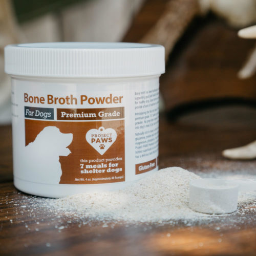 Bone Broth Powder for Dogs with Elk Antler: Glucosamine, Collagen, Mineral Rich