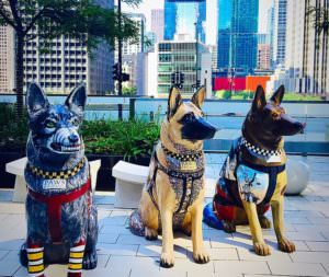 Service Dogs Statue Chicago