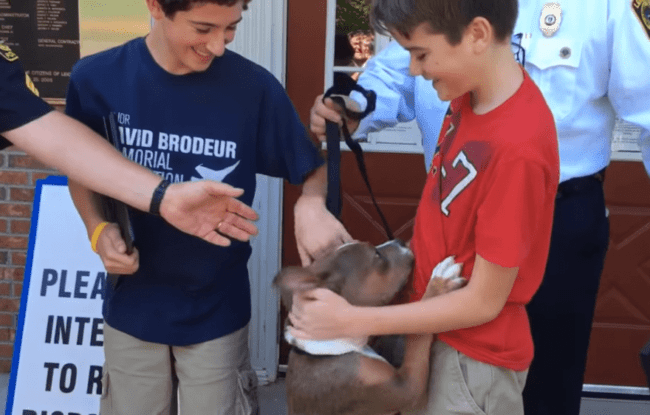 2 Teens Honored For Saving The Life Of A Puppy Abandoned In The Woods