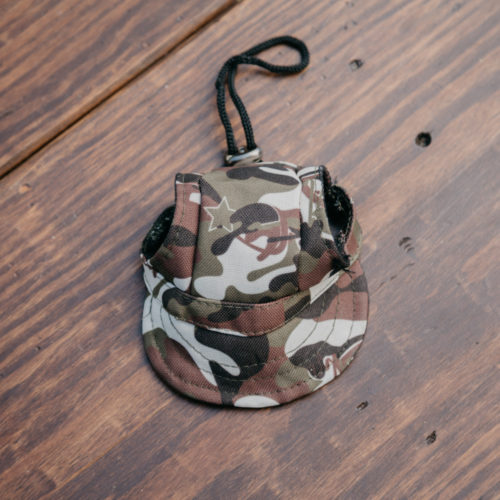 Doggy Baseball Hat - Camo Army Print