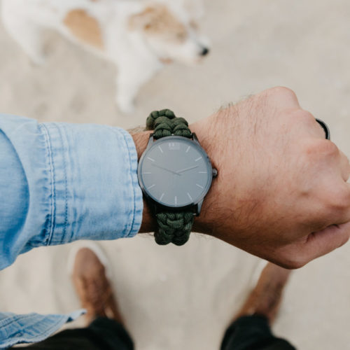 Military Green Paracord Watch: Helps Pair Veterans with a Service Dog or Shelter Dog