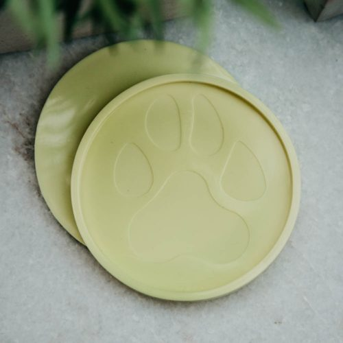 Yellow Round Paw Coaster