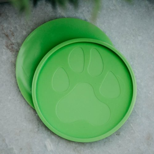 Green Round Paw Coaster