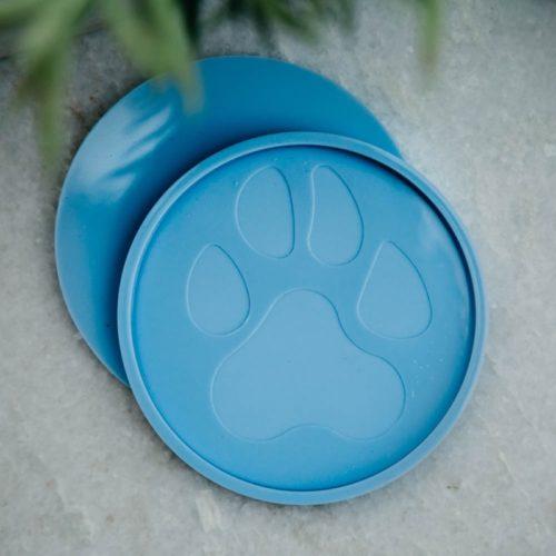 Blue Round Paw Coaster