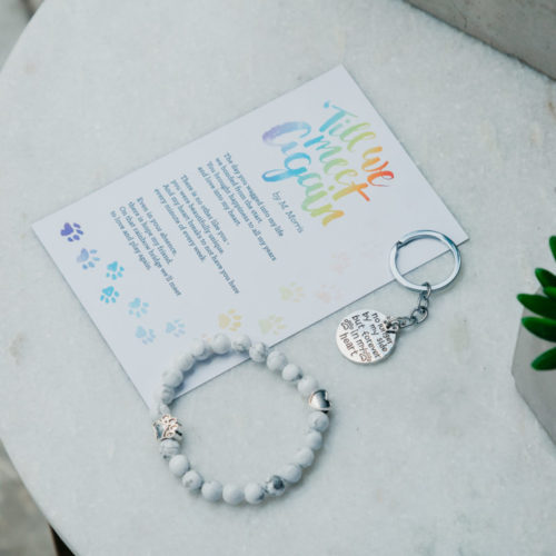 Memorial Gift Pack with Bracelet, Poem Magnet, & Keychain: Feeds 30 Shelter Dogs In Honor of Your Dog