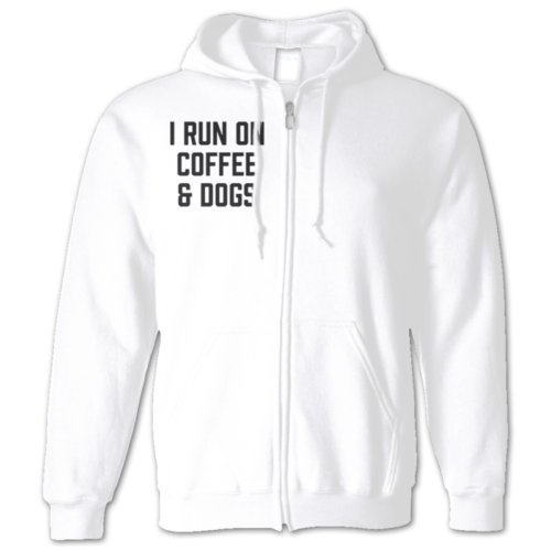 I Run On Coffee Zip Hoodie