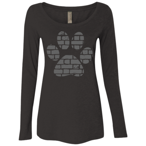 Rescue Rebuild Brick Paw Fitted Scoop Neck Long Sleeve