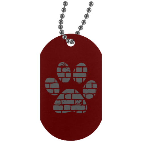 Rescue Rebuild Brick Paw Dog Tag