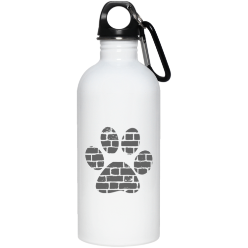 Rescue Rebuild Brick Paw Stainless Steel Water Bottle