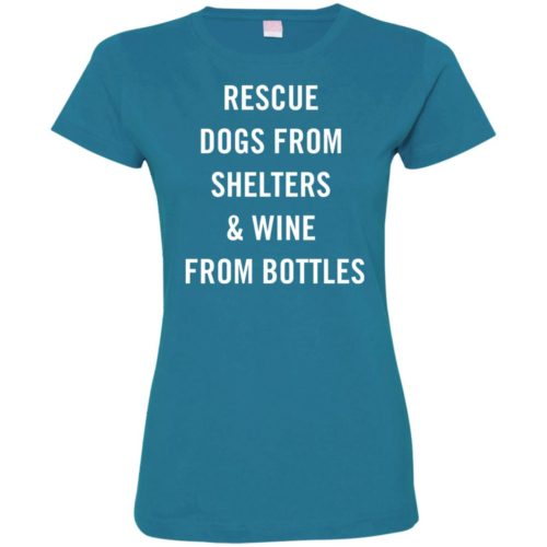 Rescue Dogs From Shelters Ladies' Premium T-Shirt