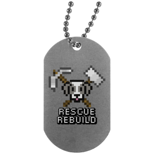 Rescue Rebuild 8 Bit Silver Dog Tag