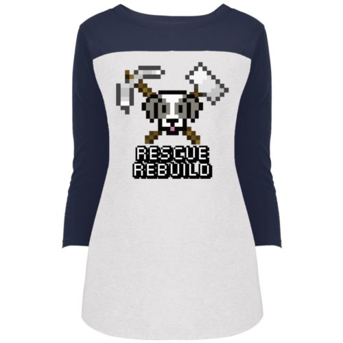 Rescue Rebuild 8 Bit Rally 3/4 Sleeve Shirt