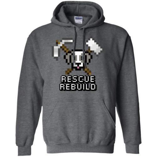 Rescue Rebuild 8 Bit Pullover Hoodie