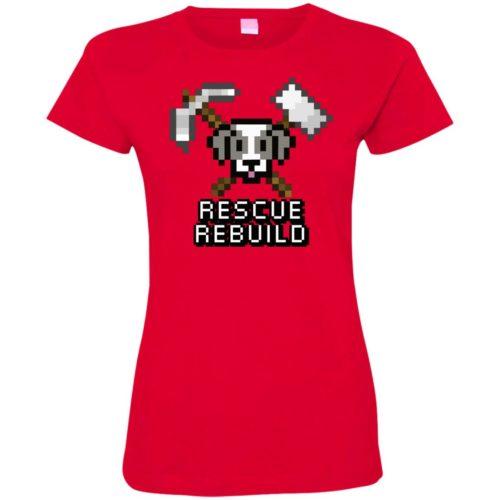 Rescue Rebuild 8 Bit Ladies' Premium T-Shirt