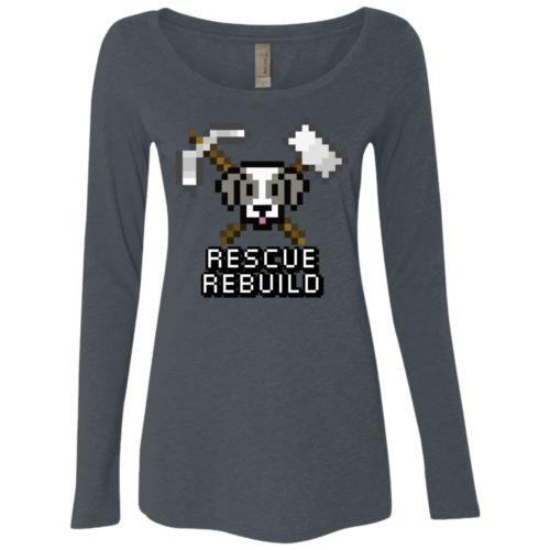 Rescue Rebuild 8 Bit Ladies Scoop Neck Long Sleeve