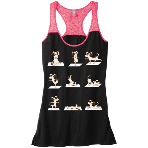 Dog Yoga Poses Varsity Racerback Tank