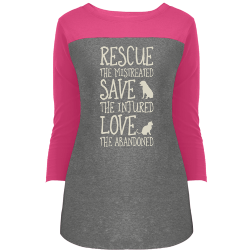 Rescue Them Colorblock 3/4 Sleeve