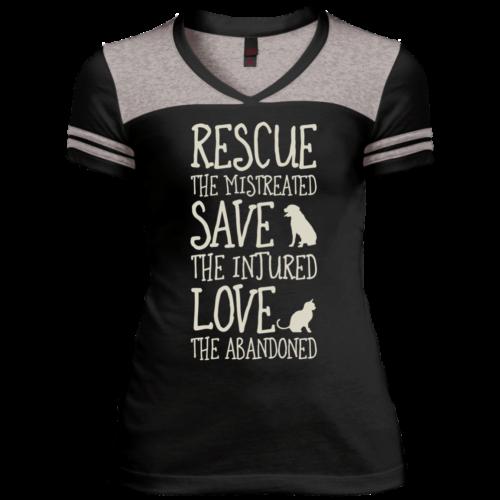 Rescue Them Varsity V-Neck T-Shirt