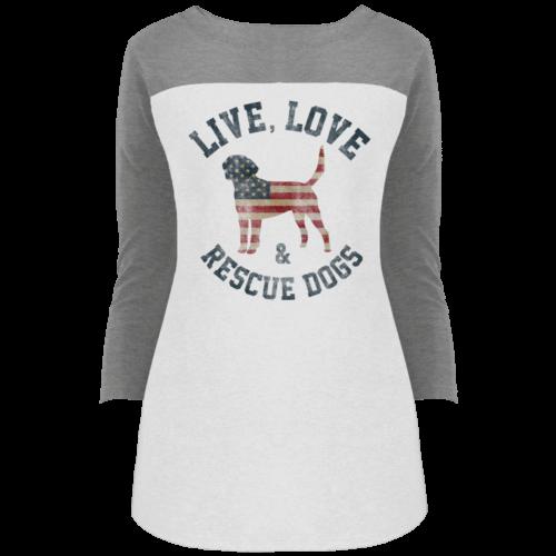 Live, Love, Rescue Colorblock 3/4 Sleeve