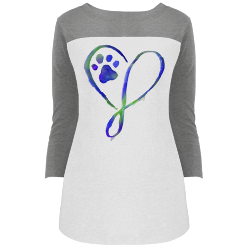 Elegant Heart Colorblock 3/4 Sleeve