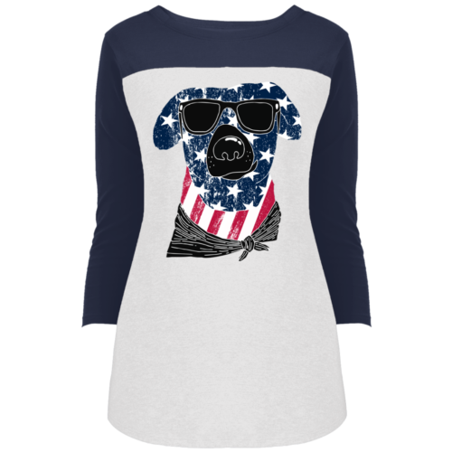 American Dog Colorblock 3/4 Sleeve