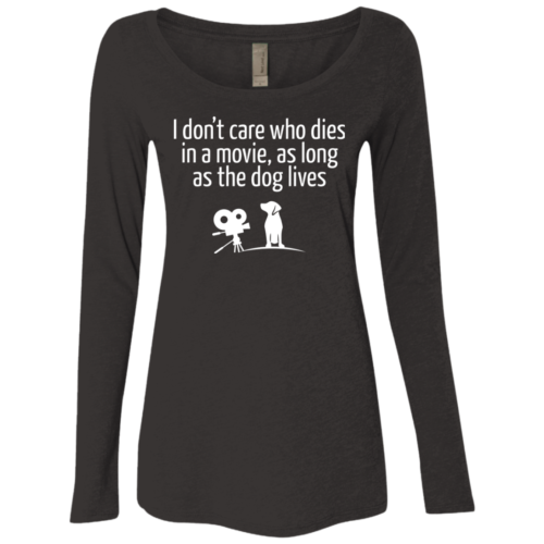The Dog Lives Fitted Scoop Neck Long Sleeve